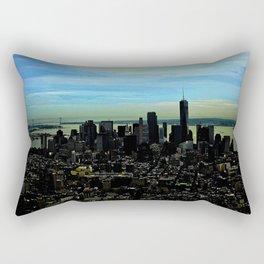 Artistic NYC Skyline Rectangular Pillow