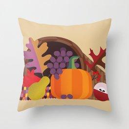 Fall Autumn Cornucopia Throw Pillow