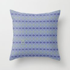 Gemini Flower of Life Astrology Pattern by Debra Cortese Throw Pillow