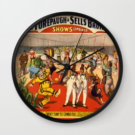 Vintage poster - Circus Advertisement Wall Clock