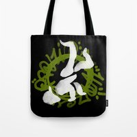 hiphop Tote Bags featuring Hiphop by Lydia Wingbermuhle