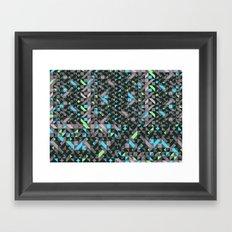 GEOMETRIC GREYS AND BLUES  Framed Art Print
