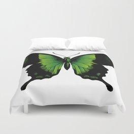 Green Butterfly Duvet Cover