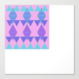 Triangel Pink Canvas Print