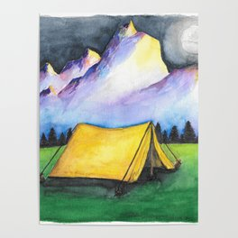 Yellow Tent Poster