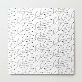 Outline herb and spice pattern Metal Print