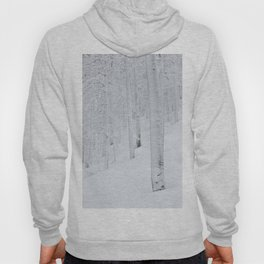 Snow covered forest winter wonderland Hoody