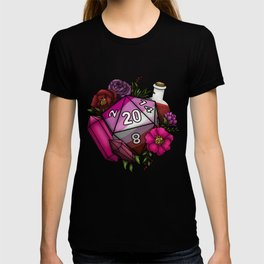 Pride Lesbian D20 Tabletop RPG Gaming Dice T-shirt