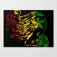 reggae Canvas Prints featuring Reggae Lady by Lonica Photography & Poly Designs