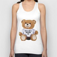 moschino Tank Tops featuring TEDDY BEAR PARFUM MOSCHINO by Claudio Velázquez