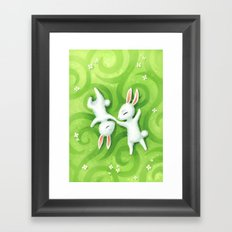 Fluffy Summer Framed Art Print