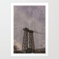 Buddha Bridge Art Print