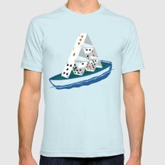 Waiting the storm Mens Fitted Tee Light Blue SMALL