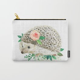 hedgehog with rose Carry-All Pouch