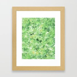 Spring Camo Green Print, Grass, Nature Framed Art Print