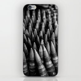 Rounds for Rounds Black and White iPhone Skin
