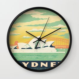 Vintage poster - Sydney Wall Clock