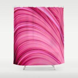 Dream Fiber III. Bubblegum Pink. Abstract Strands Shower Curtain