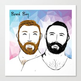 Beard Boy: Buttons and Snaps Canvas Print