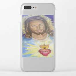 Sacred Heart of Jesus Clear iPhone Case