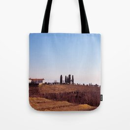 Winter morning in the vineyards of Collio, Italy Tote Bag
