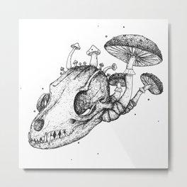 Fox Anatomy Metal Print