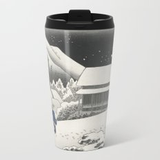 Kanbara Station - Vintage Japan Woodblock Metal Travel Mug