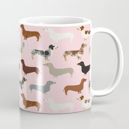 Dachshund doxie pet portrait hot dog weener dog breed funny small dogs puppy gifts for dachshund  Coffee Mug