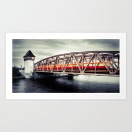 Treptow - crossing the Spree Art Print