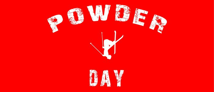 Powder Day Red Coffee Mug
