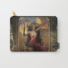 XI. Justice Tarot Card Illustration (Color) Carry-All Pouch