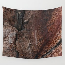 burned wood texture Wall Tapestry