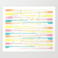 confetti Art Prints featuring Confetti by Tammy Kushnir