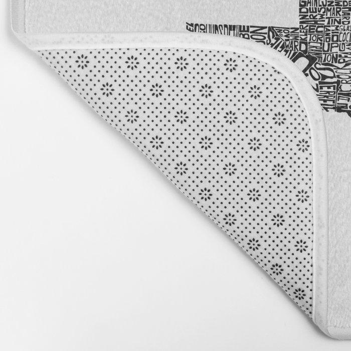 Typographic Texas Bath Mat