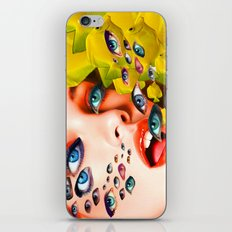 What You looking at? (collage) iPhone & iPod Skin
