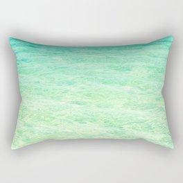 GREEN OMBRE OCEAN Rectangular Pillow