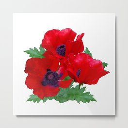 Red oriental poppies Metal Print