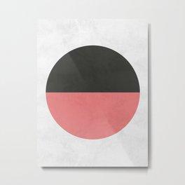 Circle and pink Metal Print