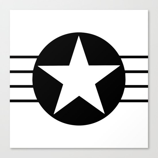 Black and white star Canvas Print