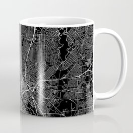 Dallas Black Map Coffee Mug