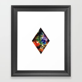 Rainbow Diamond Framed Art Print
