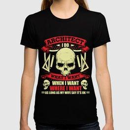 Architect T-Shirt Proud Architect Skull Graphic Clothing T-shirt