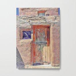 Pueblo Door #2 Metal Print