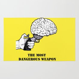 THE MOST DANGEROUS WEAPON Rug