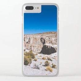 Over the Edges of the Atacama Desert, Bolivia Clear iPhone Case