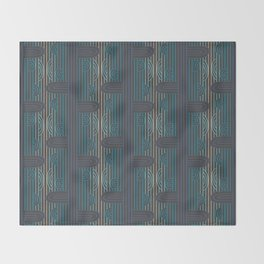 art deco stripe Throw Blanket