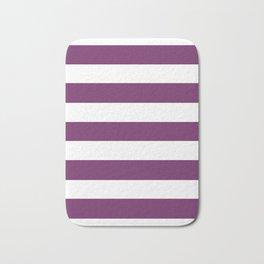 Byzantium - solid color - white stripes pattern Bath Mat