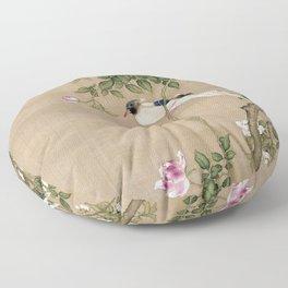 Flowers and Birds II Floor Pillow