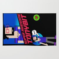 8 bit Area & Throw Rugs featuring 8-bit by EarlyHuman