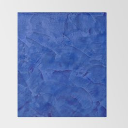 Dark Classic Blue Ombre Burnished Stucco - Faux Finishes - Venetian Plaster - Corbin Henry Throw Blanket